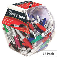 Sharpie Mini Permanent Fun Marker Assorted Canister of 72 S0811300