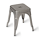 Paris Low Outdoor Stool Gunmetal