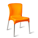 Ellie Outdoor Stacking Side Chair Orange