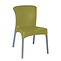 Ellie Outdoor Stacking Side Chair Green Olive