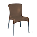 Ellie Outdoor Stacking Side Chair Chocolate