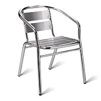 Aluminium Outdoor Stacking Arm Chair