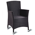 Sorrento Black Weave Outdoor Lounge Chair