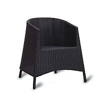 Sorrento Black Weave Outdoor Stacking Tub Chair