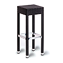 Sorrento Black Weave Outdoor Bar Stool