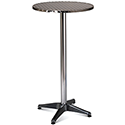 Tall Aluminium 600mm Diameter Round Outdoor Cafe & Bistro Table