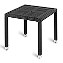 Geneva Square Black Top Outdoor Table