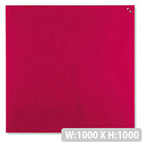 Franken Glass Magnetic Board 1000x1000mm Red GT10010001