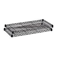 Safco Wire Commercial Shelving Extra Shelves W1219mm Pack of 2 5242BL