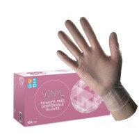 McKinnon Vinyl SMALL Disposable Gloves Powder-Free Case of 10 (1000) GV100SC