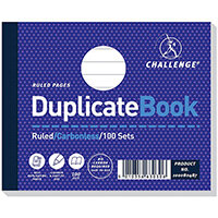 Challenge Duplicate Book Carbonless Ruled 105x130mm Pack 5