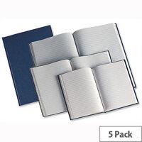 Whitebox A5 Manuscript Book Ruled Pack 5
