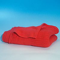 Ambulance Style Red Cotton Blanket 4608001