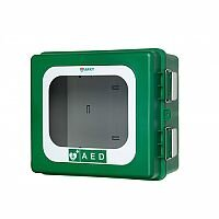 ARKY Heated Outdoor AED Defibrillator Cabinet Green Lockable HA60.213