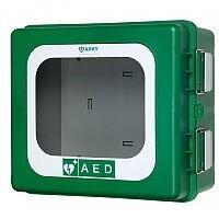 ARKY Outdoor AED Defibrillator Cabinet Green Lockable HA60.212