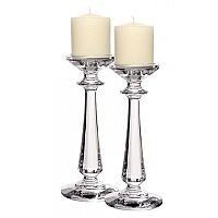 """Tipperary Crystal Pair Of 10"""" Bacchus Candlesticks - Gift Set"""