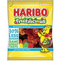 Haribo Fruitilicious Bag Reduced Sugar 140g Pack of 12 49077