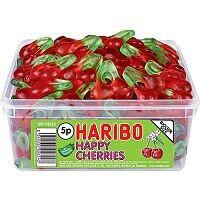 Haribo Giant Happy Cherries Jelly Sweets in Tub (Pack of 1) 12244