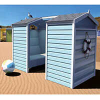 Frovi HUDDLE BEACH HUT 4 Seater Meeting Pod With High Back Seating H1930xW2440xD1490mm - Fabric Band B
