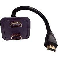HDMI Male to 2 x Female Splitter Adaptor