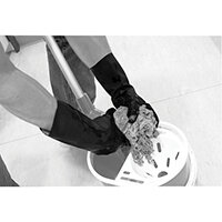 Shield Industrial Rubber Gloves Black Size 9 GI/6406
