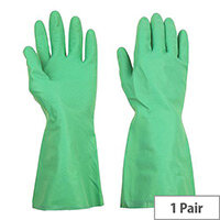 Shield Household Rubber Gloves Medium Green Pack of 1 GR01G