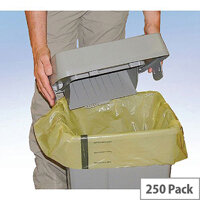 Clinical Waste Sack for Landfill Medium Duty Yellow Tiger Striped FAYB/5 5 Rolls x 50 Sacks