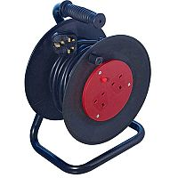 Heavy Duty 2-Way 13 Amp Extension Reel 25m Black