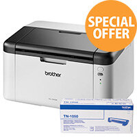 Brother HL-1210W Compact Wireless Mono Laser Printer Bundle - 5 Toners 3 Years Warranty