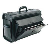 Pilots Case PVC Black Briefcase