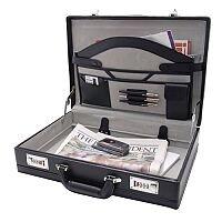 Monolith Expanding Briefcase PVC Black