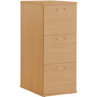 3 Drawer Wooden Filing Cabinet HOFC3B Beech