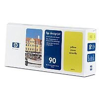 Hewlett Packard No 90 Print Head And Cleaner Yellow C5057A