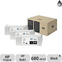Hewlett Packard No83 UV 3 Ink Multi-Pack Inkjet Cartridge Black C5072A