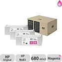 Hewlett Packard No83 UV 3 Ink Multi-Pack Inkjet Cartridge Magenta C5074A