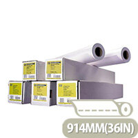 HP 914mm x 91.4m Coated Plotter Paper Roll 90gsm Ref C6980A