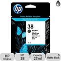 Hewlett Packard No38 Pigment Inkjet Cartridge Matte Black C9412A