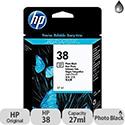Hewlett Packard No38 Pigment Inkjet Cartridge Photo Black C9413A