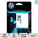 Hewlett Packard No38 Pigment Inkjet Cartridge Cyan C9415A