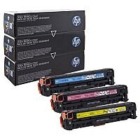 HP 305A 3-Pack Cyan Magenta Yellow Laser Toner Cartridge CF370AM
