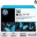 Hewlett Packard No761 Design Jet Inkjet Cartridge 400ml Matte Black CM991A