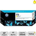 Hewlett Packard No772 Design Jet Inkjet Cartridge 300ml Yellow CN630A