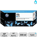 Hewlett Packard No772 Design Jet Inkjet Cartridge 300ml Cyan CN636A