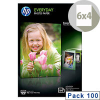 HP 10x15cm Everyday Glossy Photo Paper 200gsm (Pack of 100)