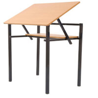 Adjustable Top Table With Shelf 500x680x760mm