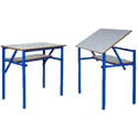 Adjustable Top Table With Shelf HSFATT