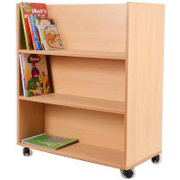 Book Trolley Double Sided Shelving