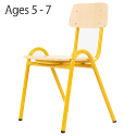 Traditional Plywood Classroom Chair 320mm 5-7 Years Yellow PC1B