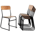 Traditional Plywood Seat & Back Chair