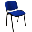 Staff Room Chair Cobalt Blue Fabric with arms SIEI